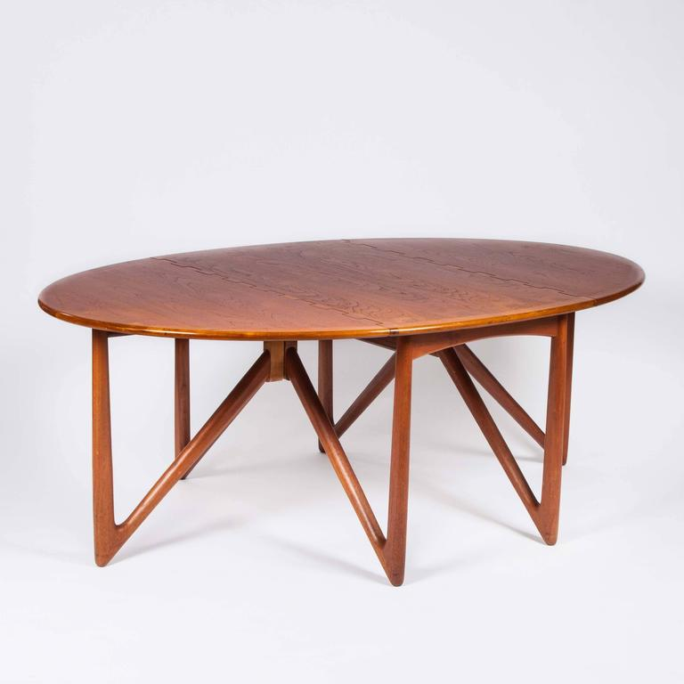 20th Century Teak Drop-Leaf Dining Table by Designed by Kurt Østervig For Sale