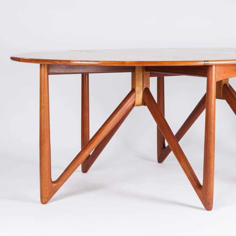 Teak Drop-Leaf Dining Table by Designed by Kurt Østervig For Sale 1