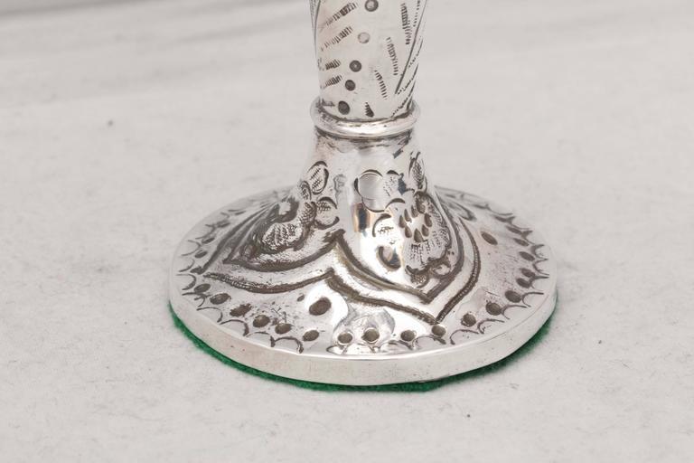 Victorian Sterling Silver Bud Vase For Sale 1