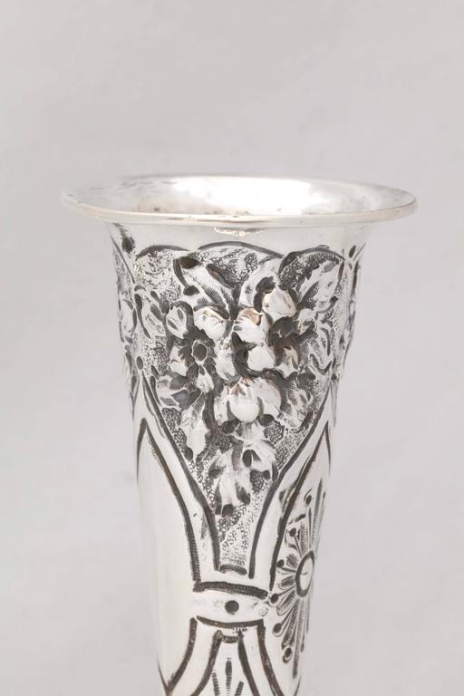 Victorian Sterling Silver Bud Vase For Sale 2