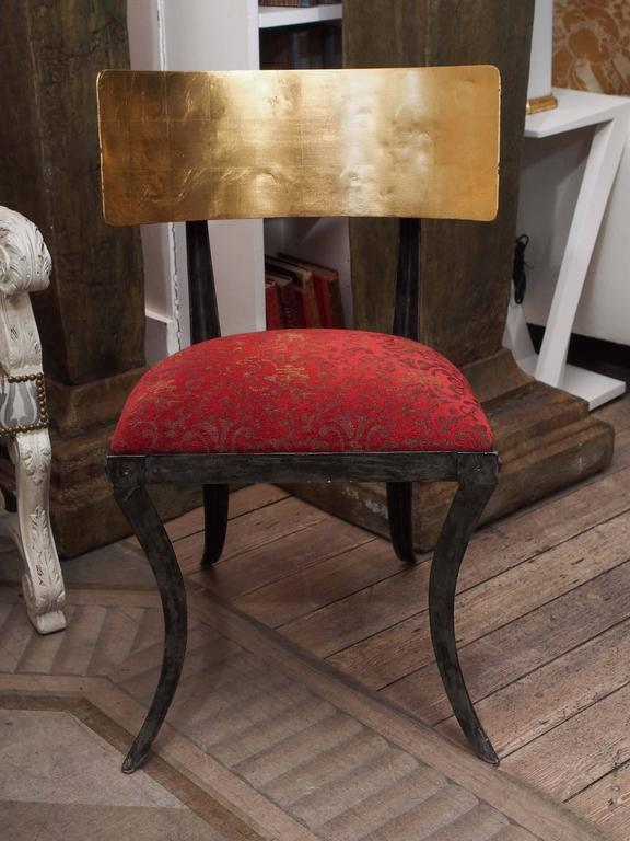 Set of Four Rare Klismos Dining Chairs 2