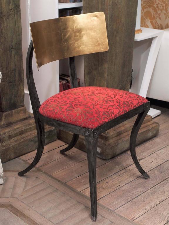 Set of Four Rare Klismos Dining Chairs 7