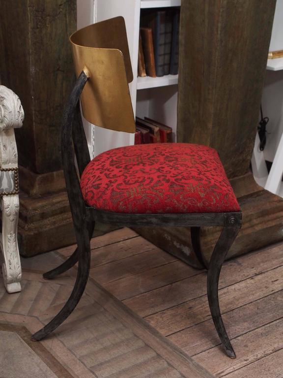 Set of Four Rare Klismos Dining Chairs 8