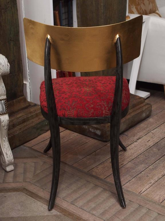 Set of Four Rare Klismos Dining Chairs 9