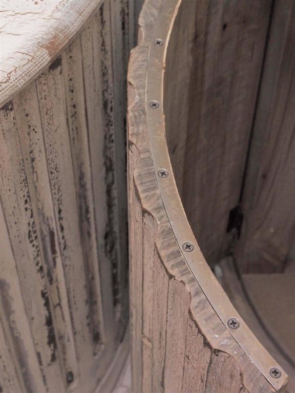Wood Pair of Unique Vintage Column Cabinets For Sale