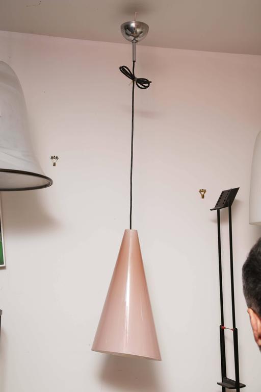Mid-Century Modern Italian Murano Fontana Arte Glass Pendant Ceiling Lamp 6