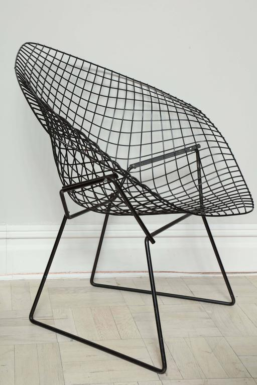Genial Pair Of Mid Century Black Wire U0026quot;Bertoiau0026quot; Chairs, For Knoll,