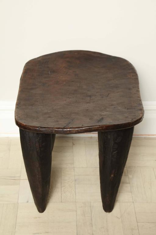 Early th century exotic wood side table carved tapered