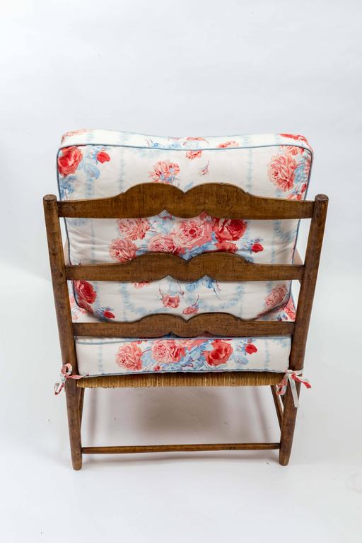 18th Century Country French Rush Seat Bergere And Ottoman