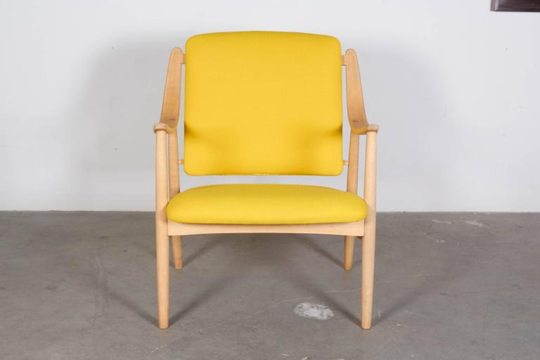 Mid Century Yellow Arm Chair by Torbjorn Afdal 2