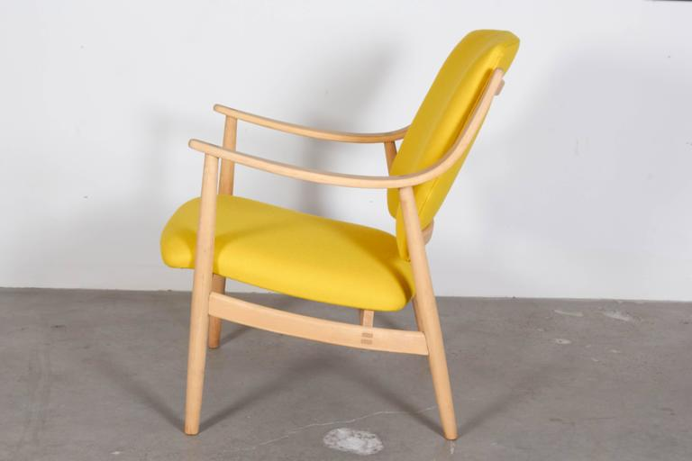 Mid Century Yellow Arm Chair by Torbjorn Afdal 3