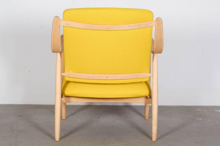 Mid Century Yellow Arm Chair by Torbjorn Afdal 6
