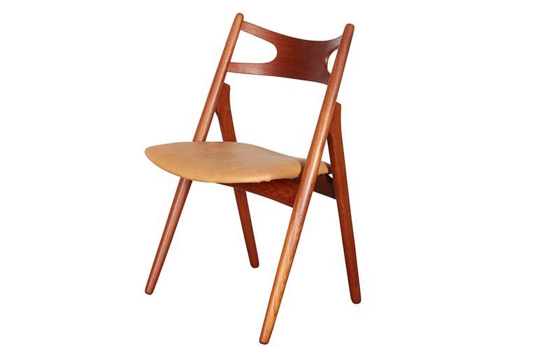 Teak Dining Chairs by Hans Wegner Sawbuck CH29, Set of Six 2