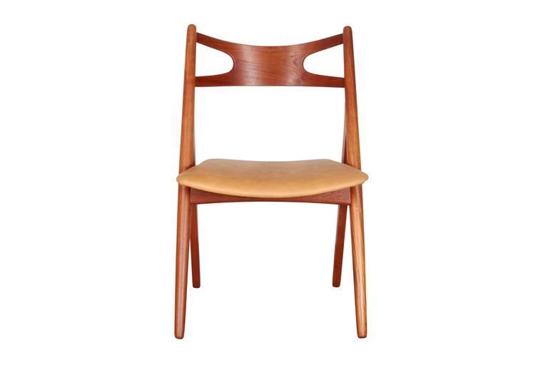 Teak Dining Chairs by Hans Wegner Sawbuck CH29, Set of Six 3