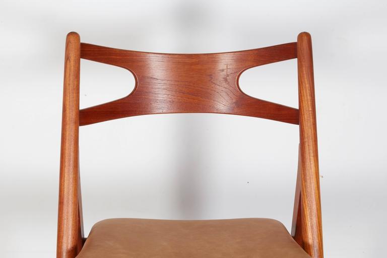 Teak Dining Chairs by Hans Wegner Sawbuck CH29, Set of Six 4