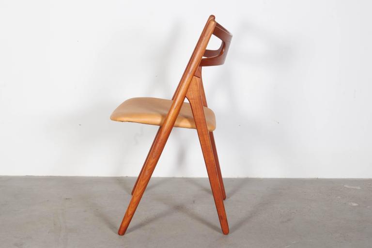 Teak Dining Chairs by Hans Wegner Sawbuck CH29, Set of Six 5