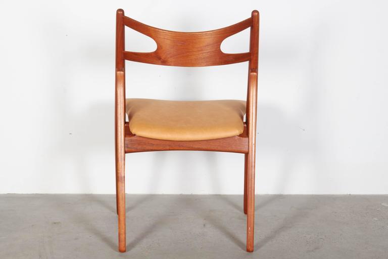 Teak Dining Chairs by Hans Wegner Sawbuck CH29, Set of Six 7