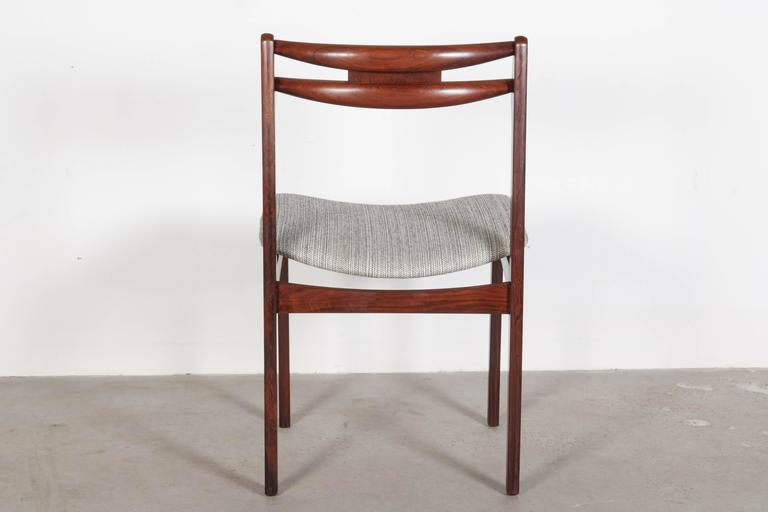 Mid Century Rosewood Dining Chairs, Set of 6 8