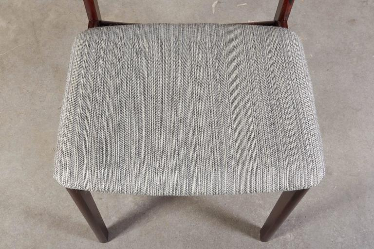 Mid Century Rosewood Dining Chairs, Set of 6 9