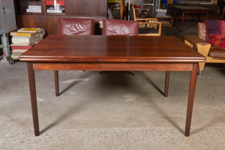 Mid Century Rectangular Rosewood Dining Table by Omann Jun 2