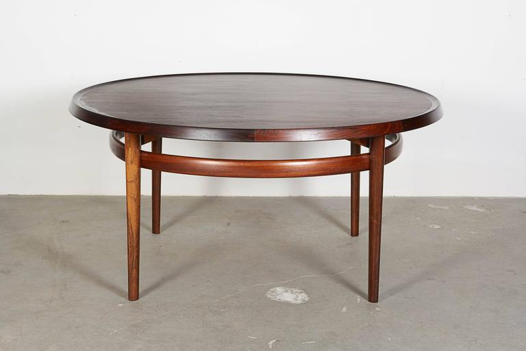 Danish Mid Century Round Coffee Table by Torbjørn Afdal For Sale