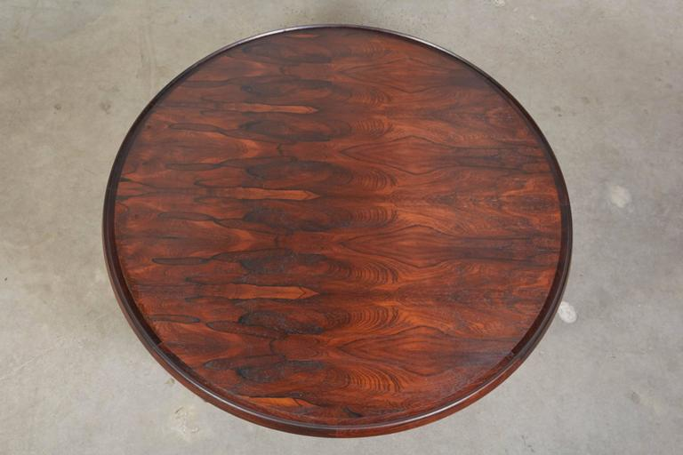 Oiled Mid Century Round Coffee Table by Torbjørn Afdal For Sale