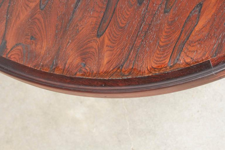 Mid Century Round Coffee Table by Torbjørn Afdal In Excellent Condition For Sale In New York, NY