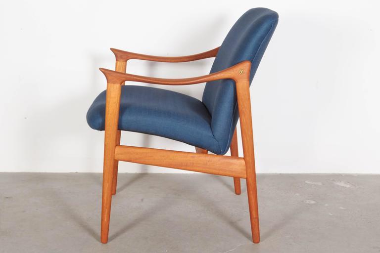 Mid Century Teak Arm Chair by Rastad & Relling 3