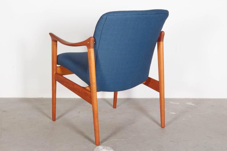 Mid Century Teak Arm Chair by Rastad & Relling 5