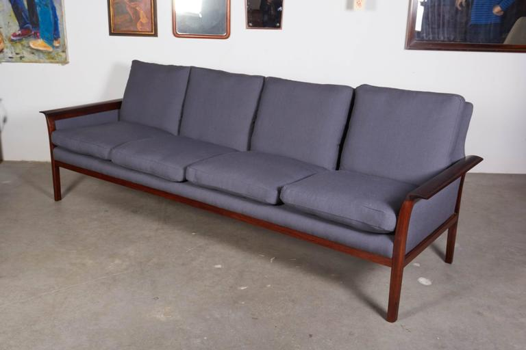 Mid Century Four-Seat Sofa by Knut Saeter  2