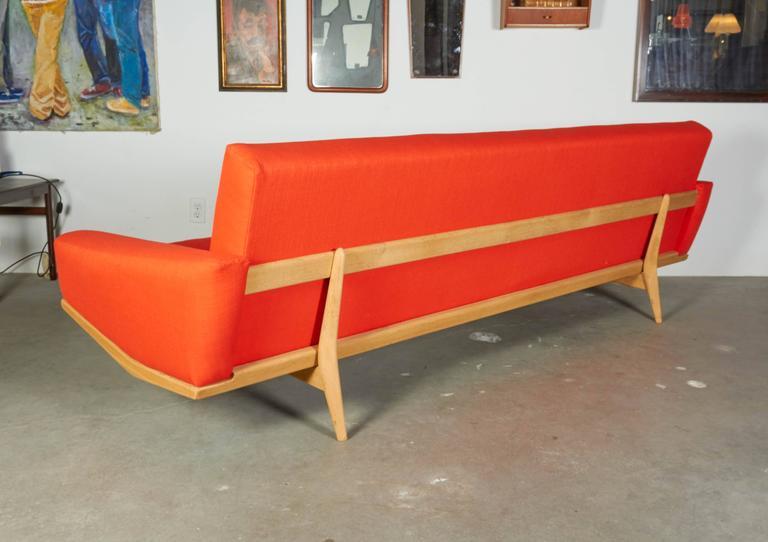 hw klein orange sofa at 1stdibs. Black Bedroom Furniture Sets. Home Design Ideas