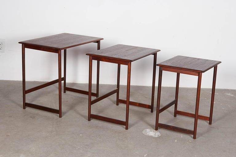 Mid Century Nesting Table by Arne Halvorsen 3