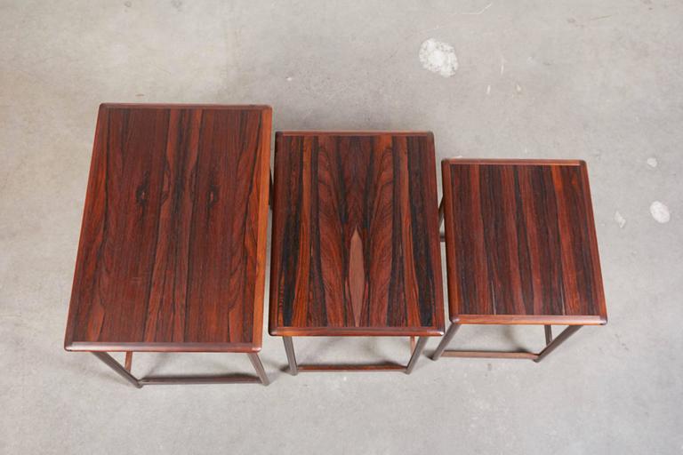 Mid Century Nesting Table by Arne Halvorsen 6