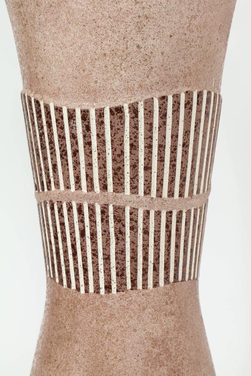 Brushed Tye of California Ceramic Lamps For Sale