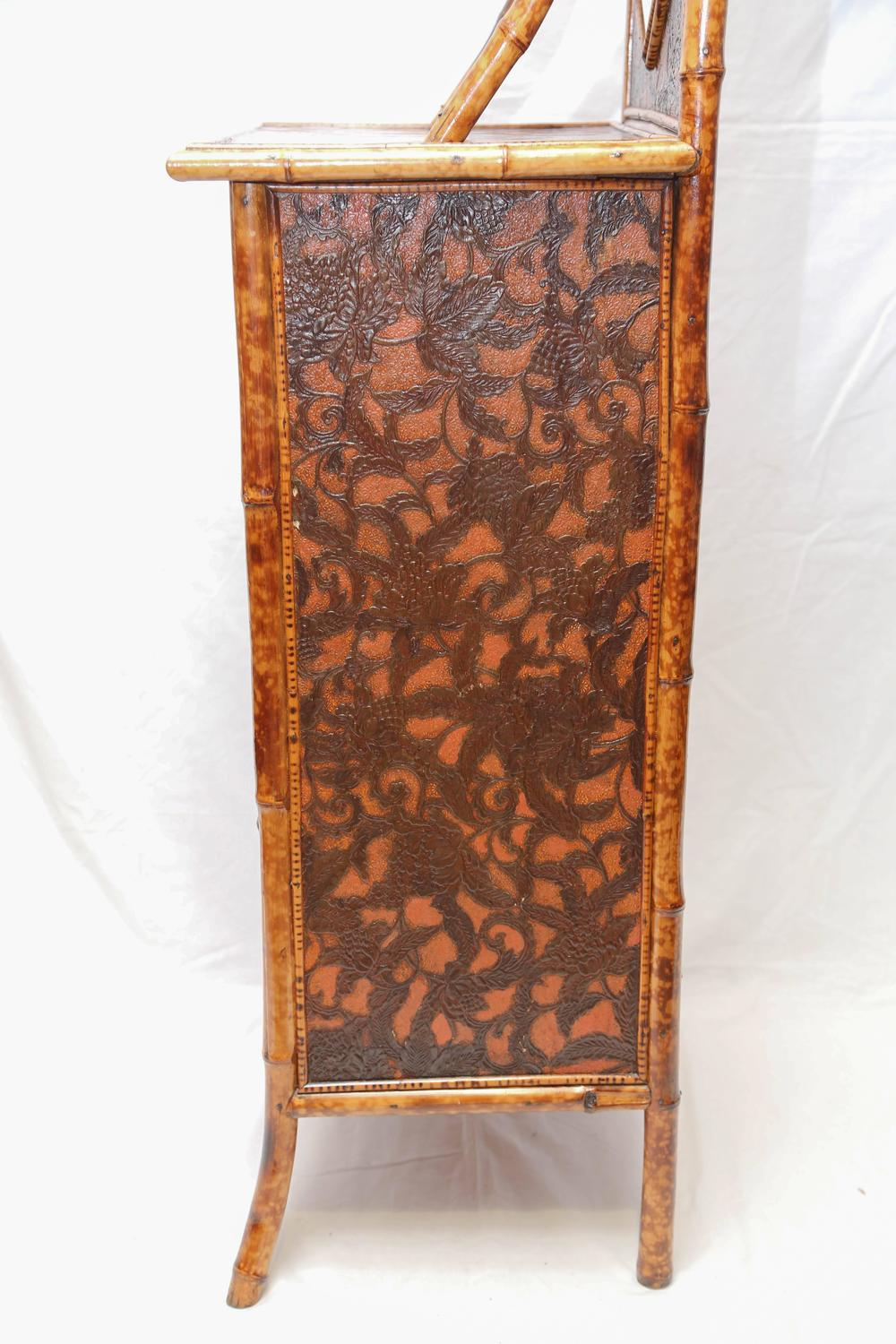 Superb 19th century english bamboo cabinet for sale at 1stdibs for Bamboo kitchen cabinets for sale