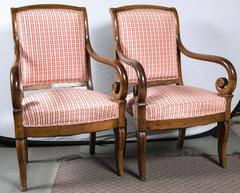 Pair French Walnut Chairs