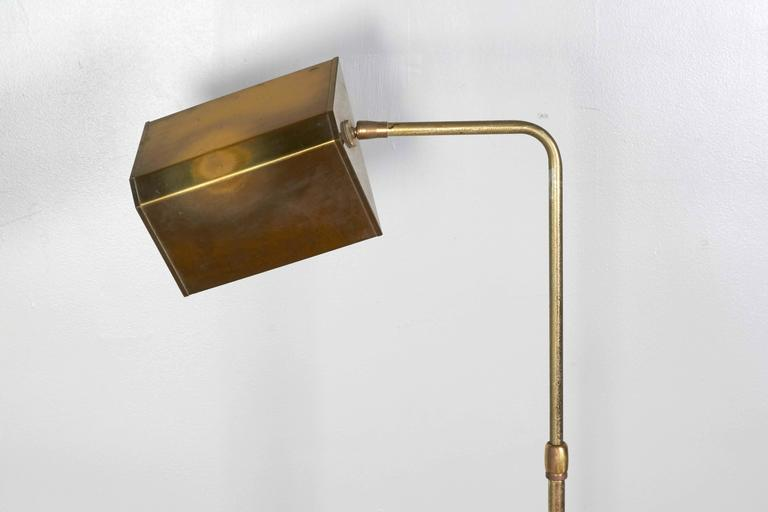 1960s Brass Pharmacy Floor Lamp In Good Condition For Sale In New York, NY