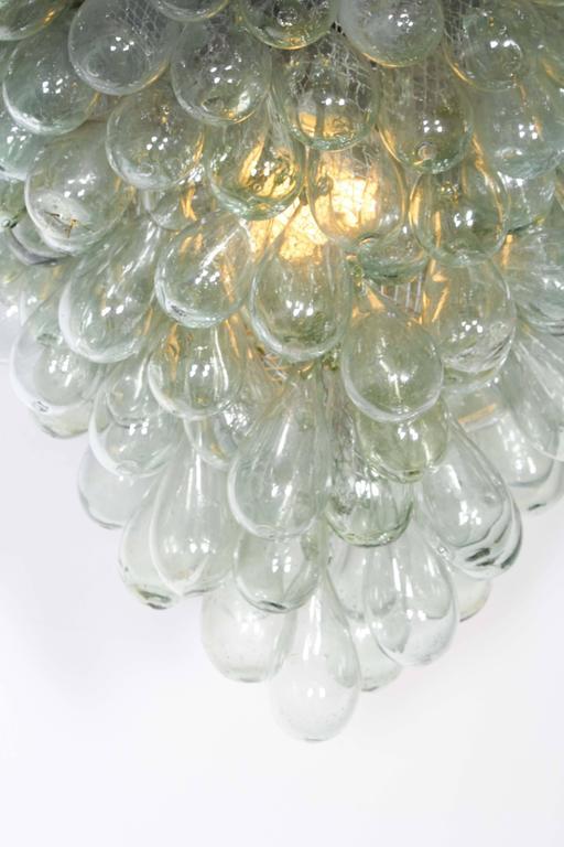 Flush Mount \'Grape Cluster\' Blown Glass Light Fixture For Sale at ...