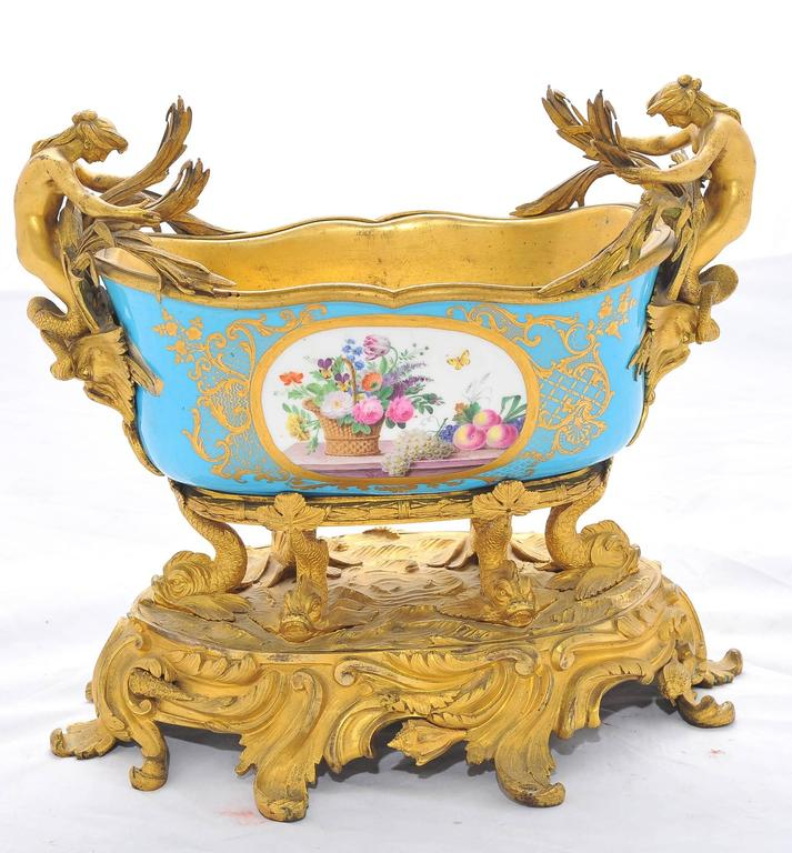 French 19th Century Sevres Jardiniere For Sale