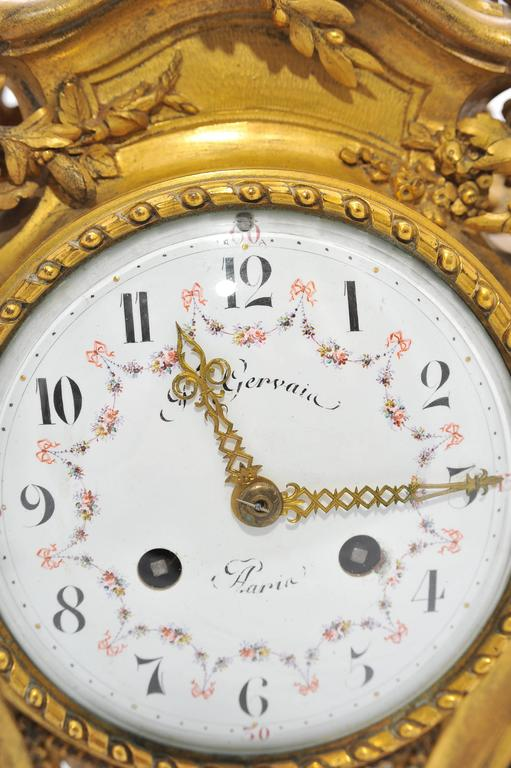 Large 19th Century French Mantel Clock by Gervais For Sale 3