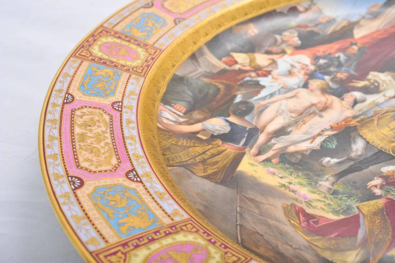 Large Vienna Porcelain Charger, 19th Century In Excellent Condition For Sale In Brighton, Sussex