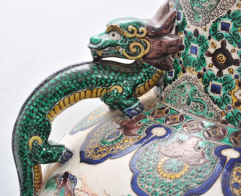 Large Pair of 19th Century Kutani Vases For Sale 1