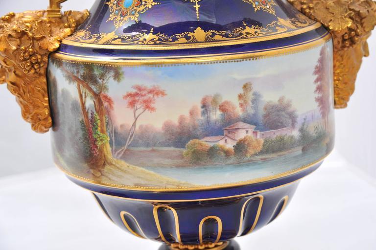 Pair of Antique Sèvres Vases For Sale 3