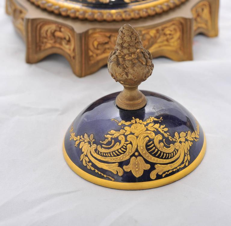Pair of 19th Century Sevres Lidded Vases For Sale 4
