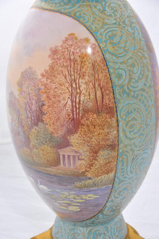 Large 19th Century Sèvres Vase In Good Condition For Sale In Brighton, Sussex