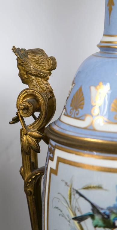 of french victorian bronze mounted porcelain lamps for sale at 1stdibs. Black Bedroom Furniture Sets. Home Design Ideas