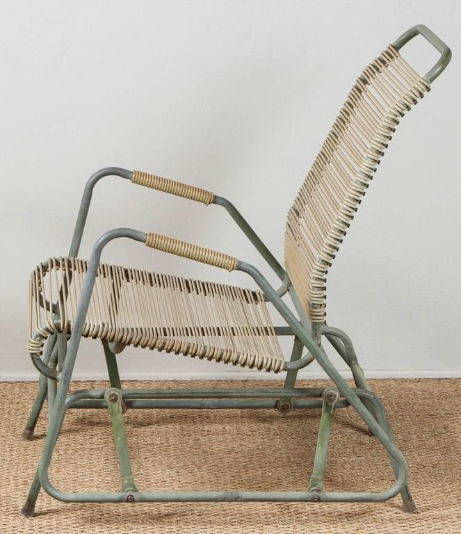 American Walter Lamb Style Glider Chair For Sale