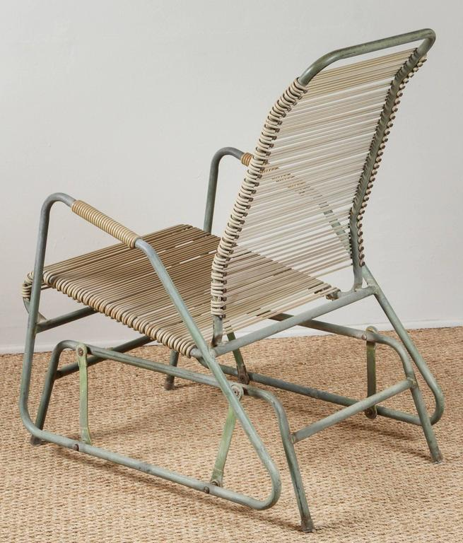 20th Century Walter Lamb Style Glider Chair For Sale