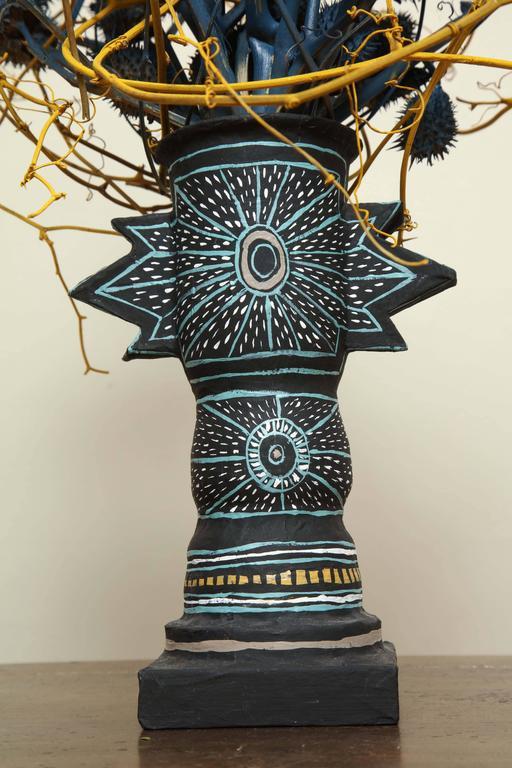Mark gagnon and emily thompson flowers papier mache vase for Papier mache art for sale