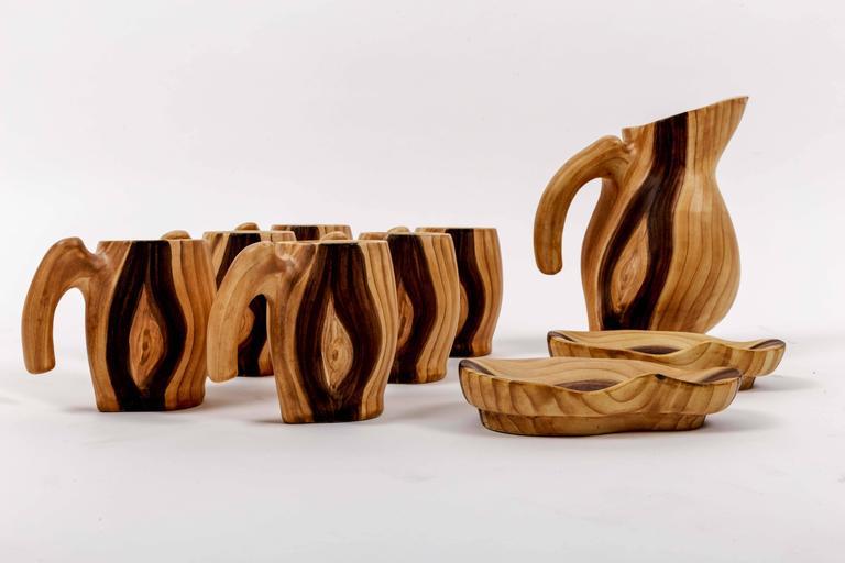 Set of Faux Bois Ceramics 2